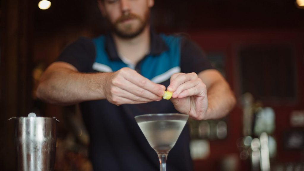 Bartender Will Travers handcrafts a frosty martini